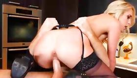 Little dirty slut is jerking his heavy dick