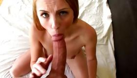 Blonde marvelous whore is drilled with heavy penis